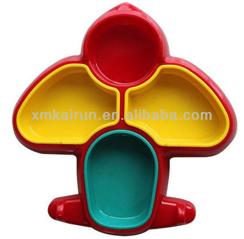 plastic airplane shape plate for dinner plate for children