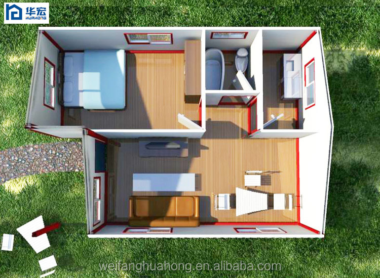 One bedroom low price prefab house designs for kenya buy for Home design 50m2