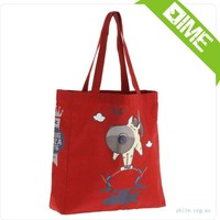 Top Quality Customized Red Cotton Shopping Bag