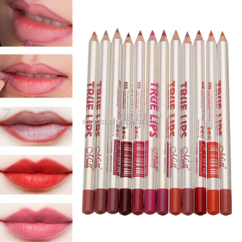 12pcs/set Lip Liner Pencil Waterproof Long Lasting Lip Liner Pen