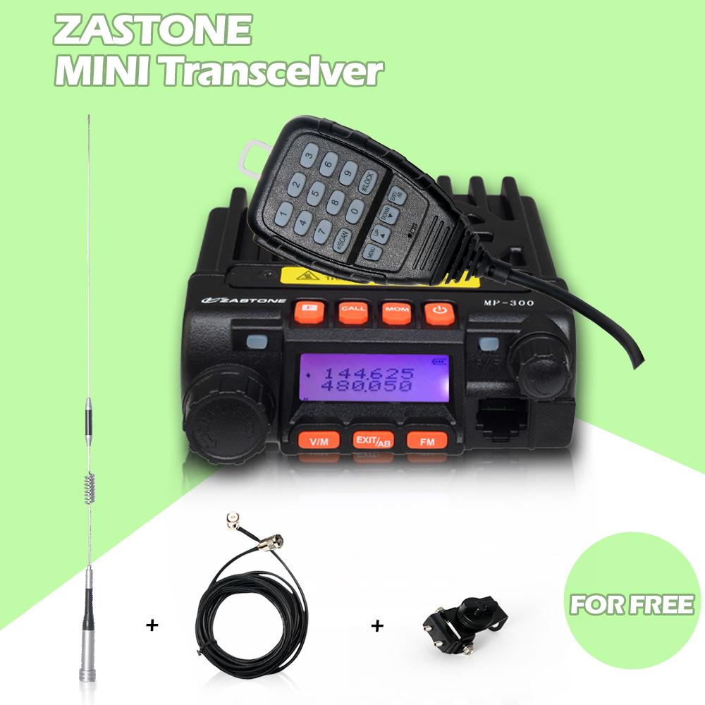 Мини трансивер ZASTONE MP300 20 Вт мощный мобильной радиосвязи автомобиля радио в том числе антенна клип края кабели