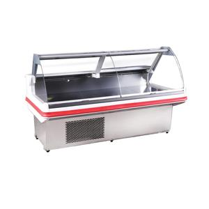 Counter Over Lift-up Curved Glass Cold Deli Cases for Sale