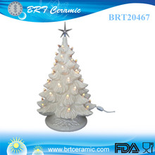 christmas tree decoration electric ceramic 17inch Draped Base