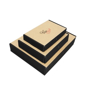 Custom printed kraft e flute corrugated box clothes for mailing