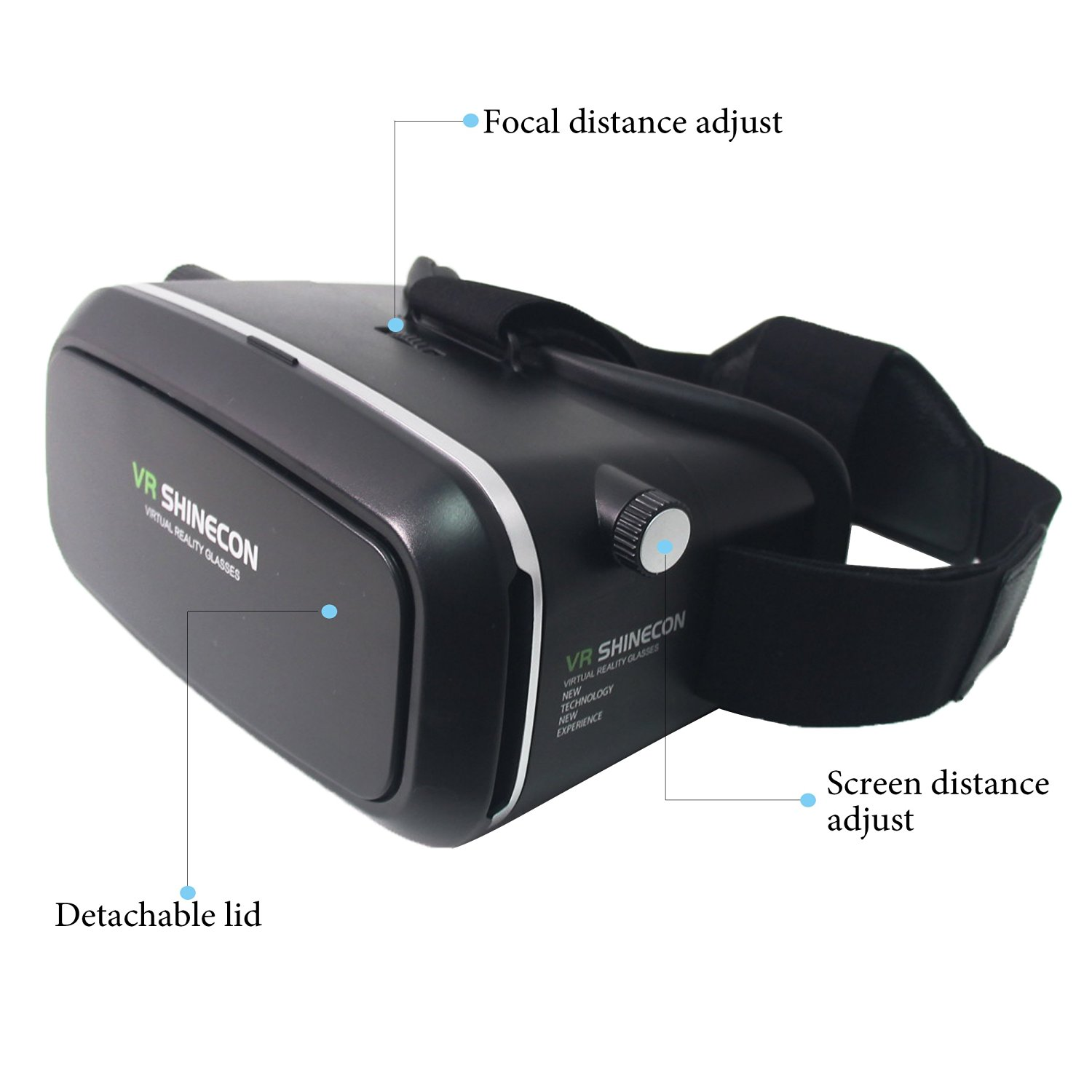 Signswise 360 degree Viewing Immersive Virtual Reality 3D VR Glasses Google Cardboard 3D Video Games Glasses VR Headset fits 3.5-6.0 inches Android & Apple Smartphones for 3D Movies and Games