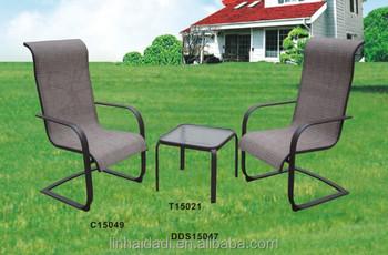 Outdoor Steel Furniture Spring Sling 3pcs Patio Set Dining Garden