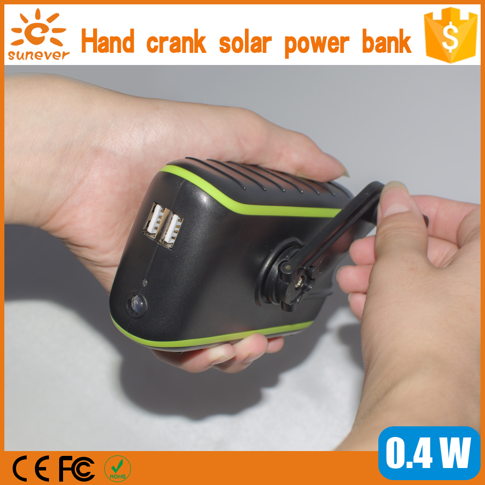 Polymer battery mobile phone travel charger/solar power bank for samsung or cell phone hand dynamo solar charger