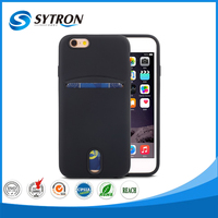 For Iphone 7 card slot 2 in 1 combo case shockproof 3d silicone phone case