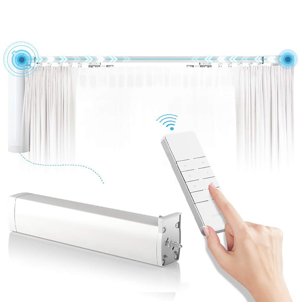 Automatic curtain rod Motorized drapery rod with motor and remote control