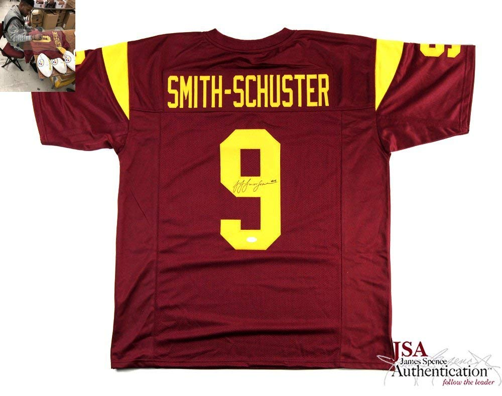 50443058f4d Get Quotations · JuJu Smith-Schuster Autographed Signed USC Trojans Maroon  Custom Jersey