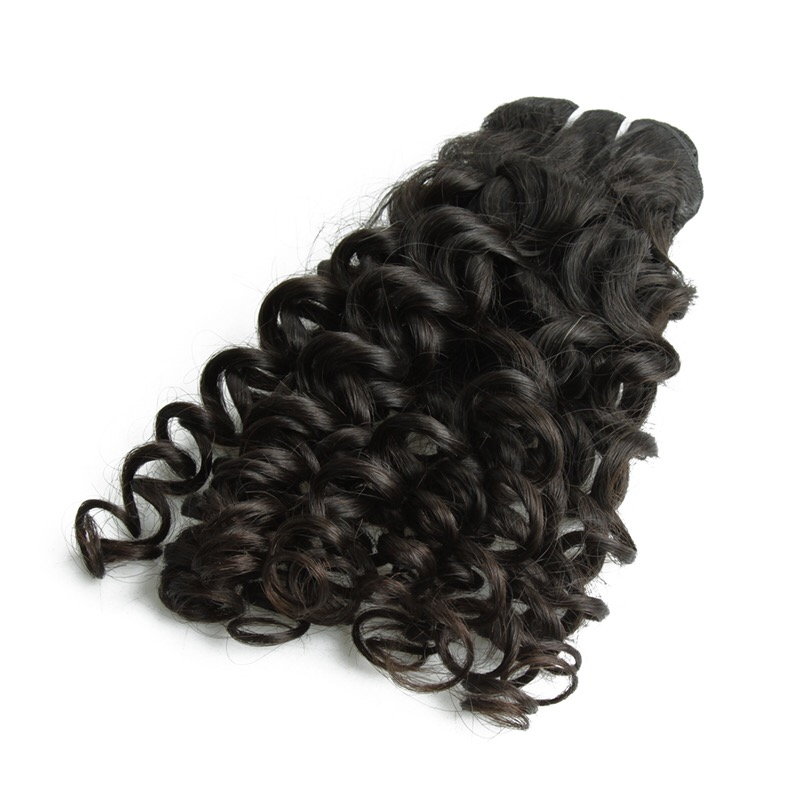 Unprocessed natural raw indian remy virgin human hair weft 100% temple hair
