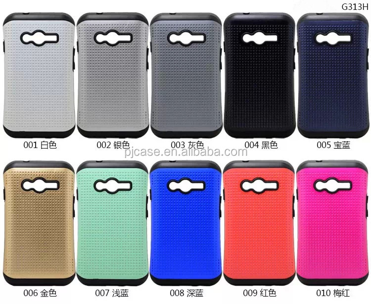 samll moq dot wave point Small Waist Hybrid Back Cover Case Slim ARMOR Shell Protective Cases for Samsung Galaxy Ace 4 NXT G313H