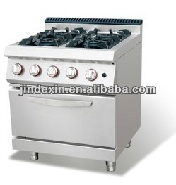 industrial kitchen cooking Gas range with 4-burner & cabinet