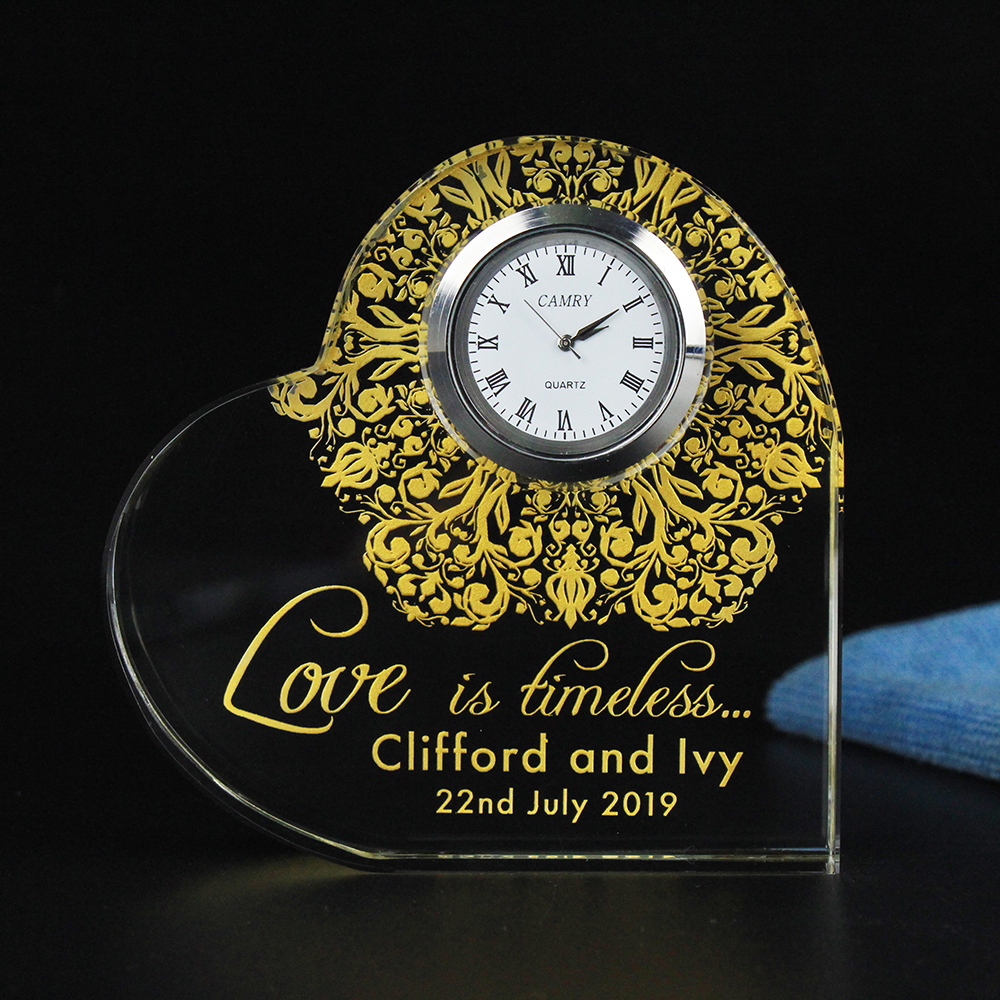 80MM100MM Personalised 50th Golden Wedding Anniversary Souvenirs Guest Gifts