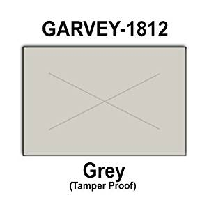280,000 Garvey 1812 compatible Gray General Purpose Labels to fit the G-Series 18-5, G-Series 18-6, G-Series18-7 Price Guns. Full Case + includes 20 ink rollers.