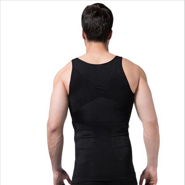 bbb62ca614eb3 Get Quotations · Hot Men Firm Tummy Belly Buster Vest Control Slimming Body  Shaper Underwear Shirt Bodysuit Mens TV