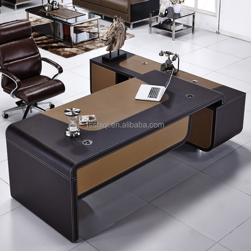 Modern Latest Leather Cover Office Table Designs Photos Product On Alibaba