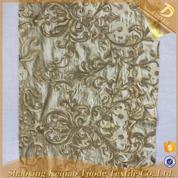 Shaoxing Rose Gold Bead Embroidery Patterns Fashion Sequin Fabric