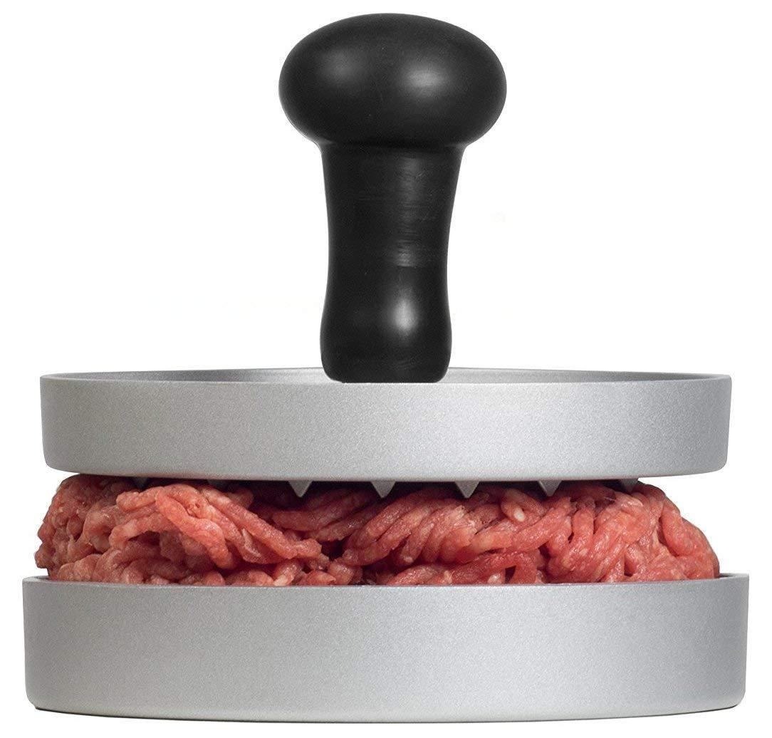AEG AHP01Premium Die-Cast Aluminium with Non-Stick Coating & Comfort Grip and Greaseproof Paper 20Sheets/Hamburger/Burger Press Hamburger/Burger Maker/LFGB Certified