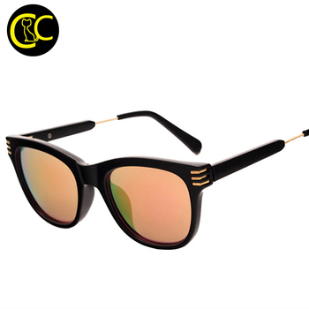 New Fashion Flat Top Style Sunglasses Cat Eye Women Brand Designer Mirror Lens Sun Glasses Female oculos de sol feminino CC5028