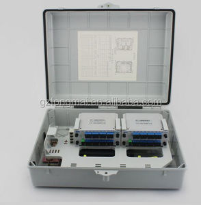 Outdoor Waterproof Fiber Optic Terminal Box Ftth PLC Fiber Optic Splitter Distribution Box