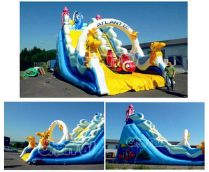 Indoor Amusement Playground Inflatable Atlantik Giant Slide for Jumping Parties
