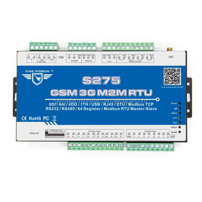 RS232 Data Logger with Programmable Logic IO GSM 3G Module