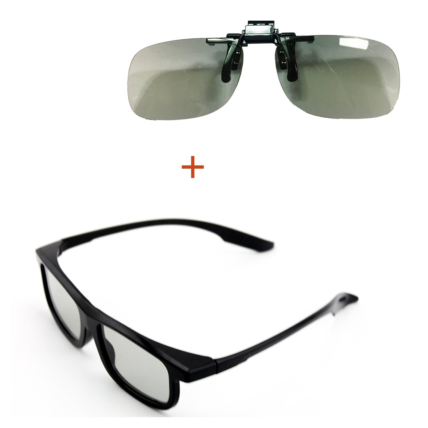Goswot 2 Pairs of Passive Circular Polarized 3D Glasses for Real-D Theaters/ Passive 3D TVs
