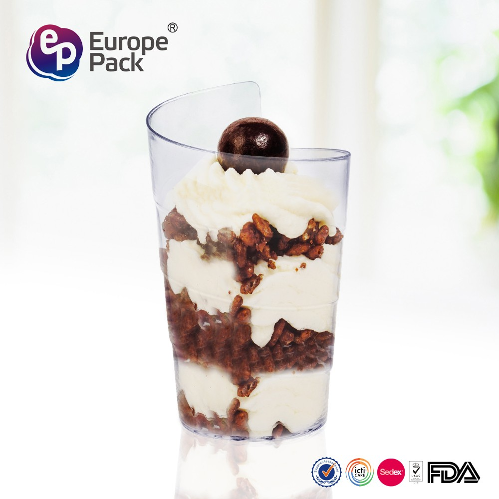 hot sell with FDA food grade disposable clear dessert <strong>cup</strong>