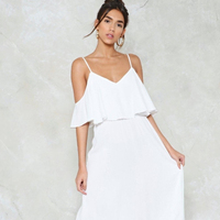 DS180608 Women fashion chiffon long maxi wedding party dress bridesmaid sexy summer casual cute Ladies dress white beach dress