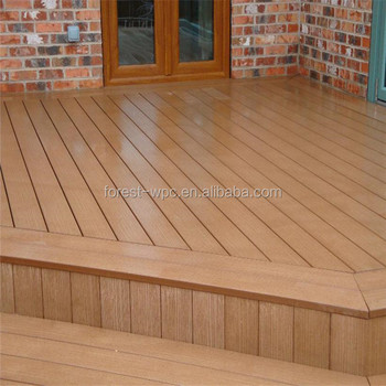 Anti Slip Synthetic Wood Plastic Patio Decking