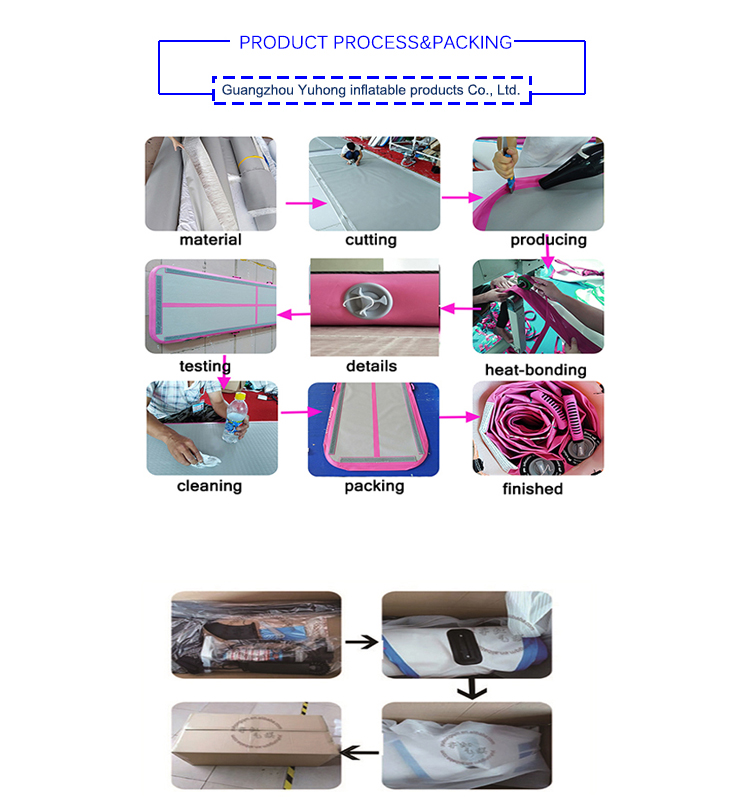 शीर्ष गुणवत्ता DWF inflatable योग मैट हवा tumbling ट्रैक जिमनास्टिक्स