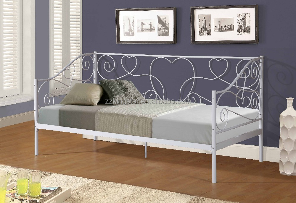 Low price metal single divan day bed frame
