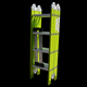 Green color used ladder for sale multipurpose hinged ladder folding locking hinges