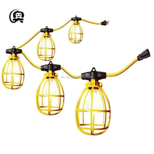 Most popular warm hanging lamp socket garden backyard holiday decoration patio Plastic cage string lights