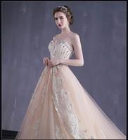 Alibaba fashion handmade beaded wedding dress strapless lace ball gown