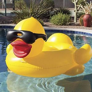 Inflatable Rhubarb duck water pool floats