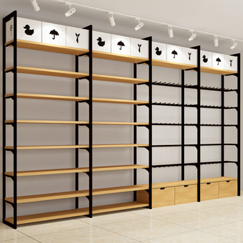 wholesale dealer 02d51 b3852 Wooden Retail Store Display Shelving System Miniso Style Floating Wall  Shelf - Buy Miniso Display Rack,Floating Wall Shelf,Wood Shelves Product on  ...