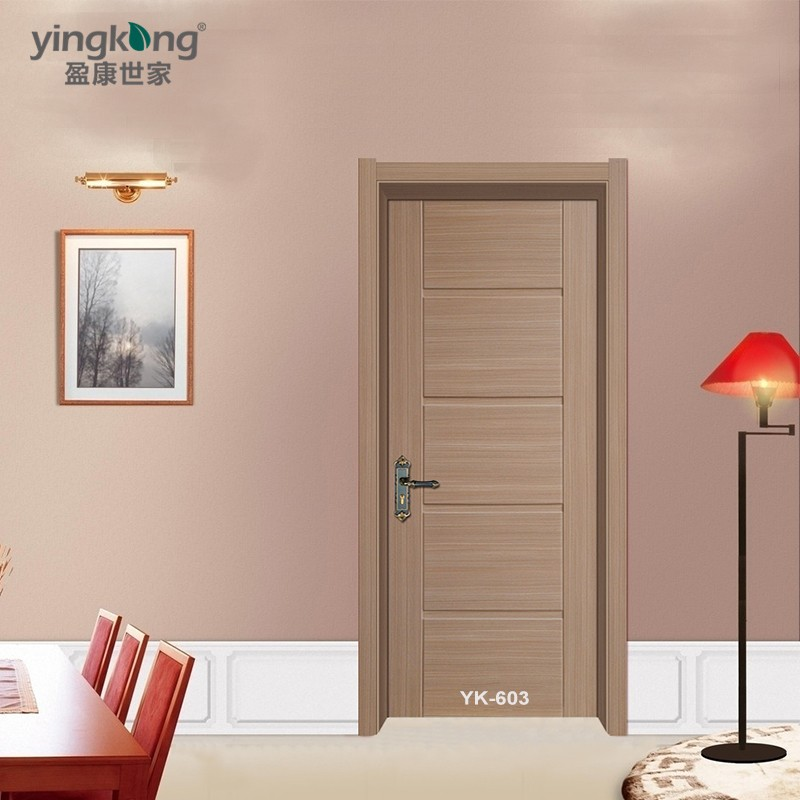 China supplier waterproof main double solid wood 5 panel for Solid wood door company