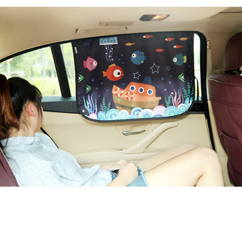 ZY-C-020 various style retractable car side window fabric sunshade