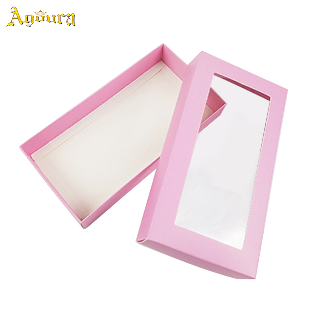 Hot sale custom skylight packaging box simple design folding boxes retail gift PVC skylight boxes