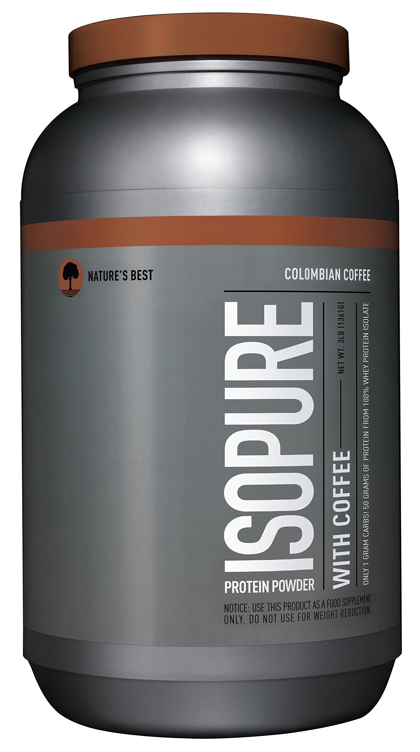 Isopure Zero Carb Protein Powder, 100% Whey Protein Isolate, Flavor: Columbian Coffee, 3 Pounds (Packaging May Vary)