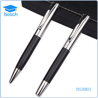 Factory direct custom logo advertising business gifts metal ball pen roller pen set with gift box