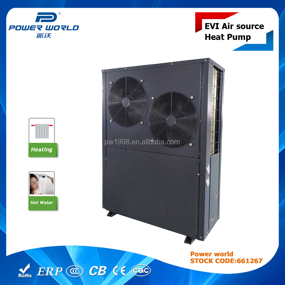 OEM service, World's best brand components for power world EVI heat pump 19.3kw