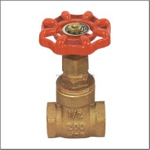 Brass Gate Valve Sand Blasted Surface Drawn Flat Iron Handlewheel Bronze Casting Body Toyo TYPE Valve 200WOG