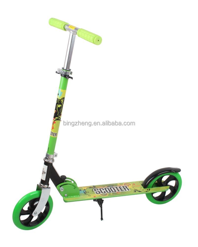 cityglide kick scooter avec 200mm grande roue sur complet en aluminium xz 109 ce approuv. Black Bedroom Furniture Sets. Home Design Ideas