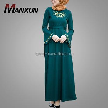 7db76c4fb6b Скромные платья с длинным рукавом для мусульманских женщин модные  элегантные Jubah Abaya Дубай красивые вышивка абаи