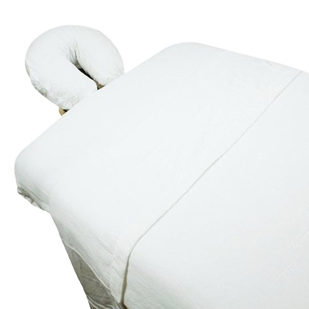 Bed-in-a-Bag -3pc Microfiber Massage Table Sheet Set -White
