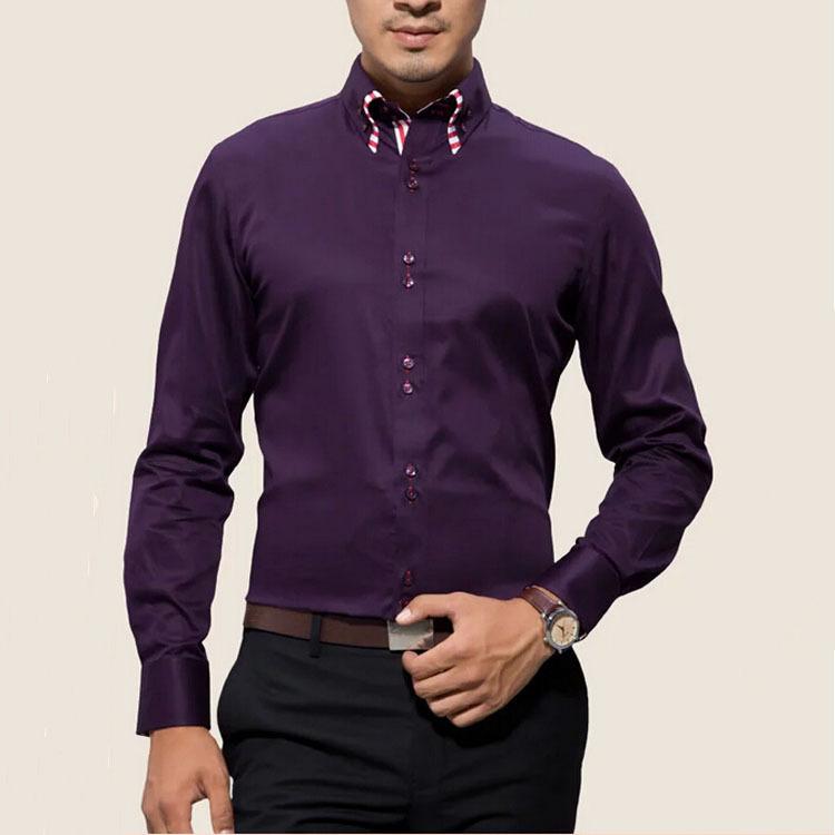 Fashionable Formal Styling Alibaba China Dark Purple Double Collar ...