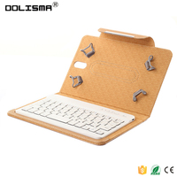 Hottest sale 7,8,9,10 inch universal tablet pc leather case with bluetooth keyboard